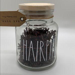Rae Dunn Hairpins small Jar
